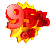95 percent price off discount Stock Photography