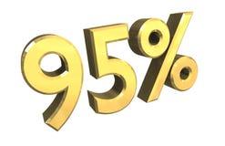 95 pour cent en or (3D) Photos stock