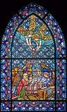 96 окно запятнанное стеклами Стоковое Изображение