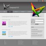 960灰色网格模板网站 免版税库存照片