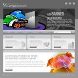 960 szarość siatki szablonu strona internetowa Obrazy Stock