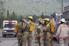 97 brandmän Fotografering för Bildbyråer