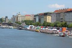 98.o Raza del rowing de Primatorky en Praga Foto de archivo