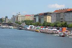 98th Primatorky rowing race in Prague Stock Photo