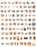 99 логосов cdr иллюстрация вектора