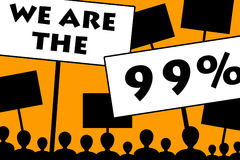 The 99%. Common people being the 99% (of the population, not the 1% top earning part vector illustration
