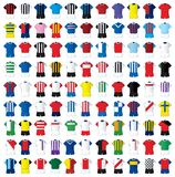 99 football shirts. Vector set of 99 football shirts Stock Photo