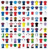 99 Fußballhemden Stockfoto