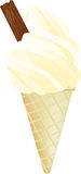 99 ice cream. 99 mr whippy style icecream with flake Stock Photography