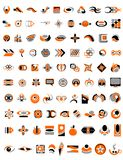 99 logos.cdr. 90 company logos , design elements vector illustration Royalty Free Stock Images