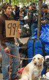 99%. Occupi il protestatore del Wall Street fotografie stock