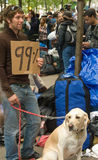 99%.  Occupy Wall Street protester Stock Photos