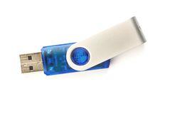998271. A single usb-stick on a white surface Royalty Free Stock Images