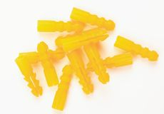 998275. A lot of yellow dowels on white ground Royalty Free Stock Images