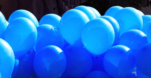 998334RF. A lot of blue inflated ballons Royalty Free Stock Photography