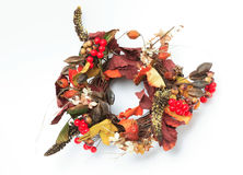 998398RF. A wreath made of artificial flowers Stock Images