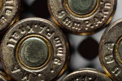 9mm bullets Royalty Free Stock Photos