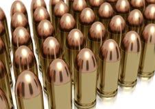 9mm Gewehrkugeln ausgerichtet Stockbilder