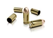 9mm Gewehrkugeln und Gehäuse Lizenzfreie Stockfotografie