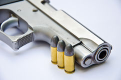 9mm. Gun With Bullet Royalty Free Stock Photo