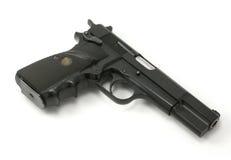 9mm halbautomatische Pistole Stockfotos
