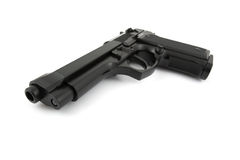 9mm handgun Stock Images