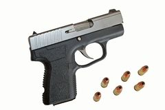 9MM Semi Automatic. A 9MM Semi Automatic Pistol stock images