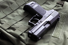 9mm semi-automatic pistol Royalty Free Stock Photos