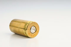 9mm Shell casing. Against gradient Royalty Free Stock Photos