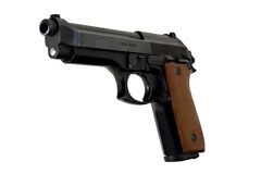 9mm Taurus Left side. Taurus 9mm pistol left side view royalty free stock photography