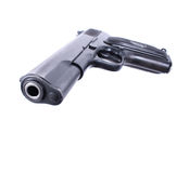9mm weapon. Isolated on the white background Stock Images