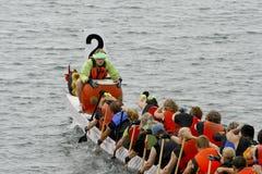 9no Regatta anual del barco del dragón de Fest de la garganta Imagenes de archivo