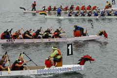 9th Annual Gorge Fest Dragon Boat Regatta Stock Image