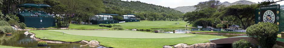 9th Hole - Panoramic View of the Green Royalty Free Stock Photos