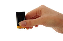 9v batterie pp3 vide Photographie stock