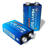 9V batteries Royalty Free Stock Photo