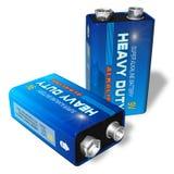9V batteries Royalty Free Stock Photo