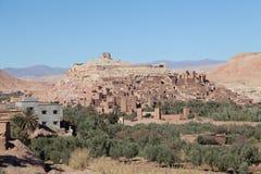 Aït本Haddou市在撒哈拉大沙漠 库存照片