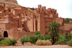 Aït Benhaddou被加强的村庄在摩洛哥 免版税库存照片