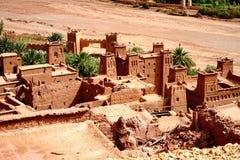 Aït Benhaddou被加强的村庄在摩洛哥 免版税图库摄影