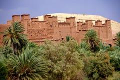 Aït Benhaddou被加强的村庄在摩洛哥 免版税库存图片