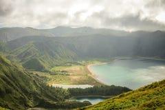 Açores海岛绿色海岛 库存照片
