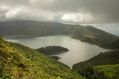 Açores ö den gröna ön Arkivfoto