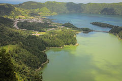 Açores ö den gröna ön Royaltyfri Fotografi