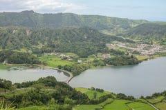 Açores ö den gröna ön Arkivbilder