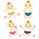 Ação 2 do bebê Ilustração do Vetor