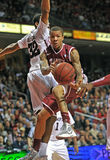 Ação 2011-12 do basquetebol do NCAA Fotos de Stock Royalty Free