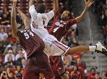 Ação 2011-12 do basquetebol do NCAA Fotografia de Stock