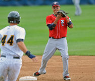 Ação 2012 do basebol do campeonato menor Foto de Stock