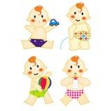 Ação 3 do bebê Ilustração do Vetor